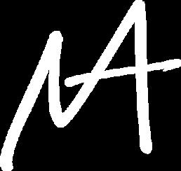 Initial-logo i hvid