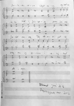 Anden side af partituret for